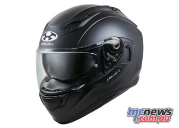 Kabuto's Hikari helmet is currently available in matt black for $349.95 RRP