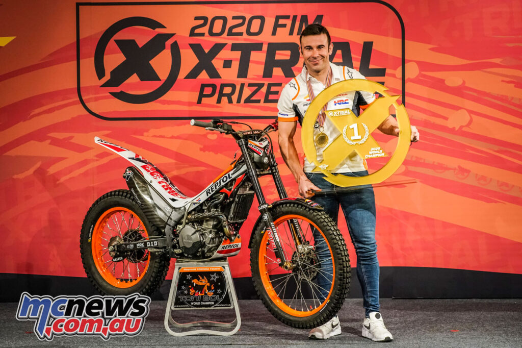 Toni Bou receives a belated trophy
