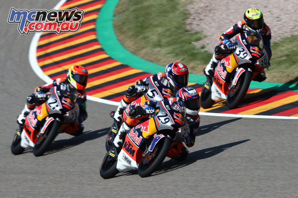 Harrison Voight took a PB of eighth in Race 2 at Sachsenring over the weekend, in the Red Bull Rookies Cup