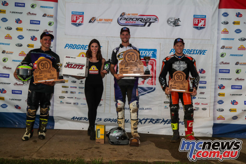 Production Twins Podium - Dan Bromley wins from Lowe and Janisch