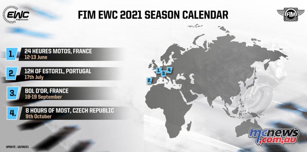 2021 FIM Endurance World Championship Calendar