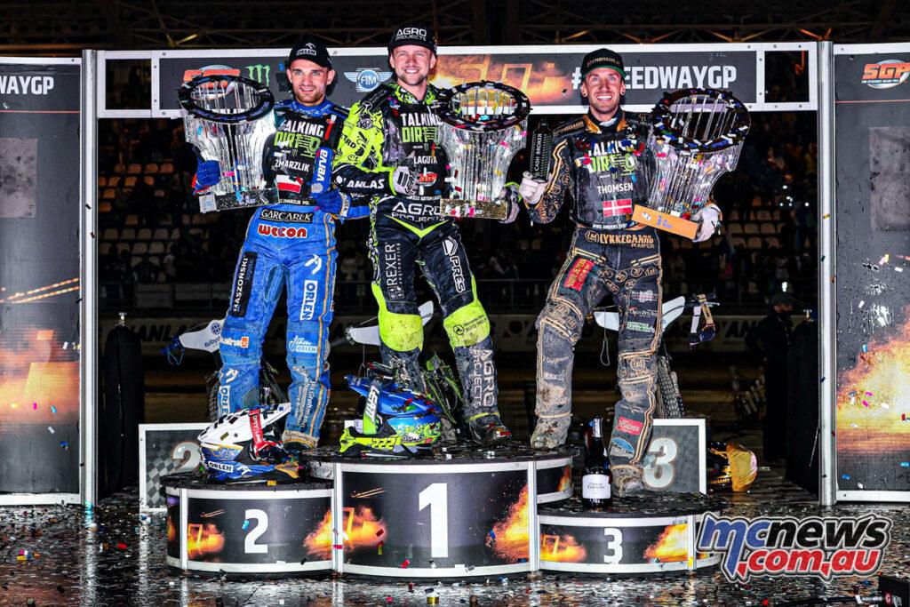 Artem Laguta tops the podium from Zmarzlik and Thomsen