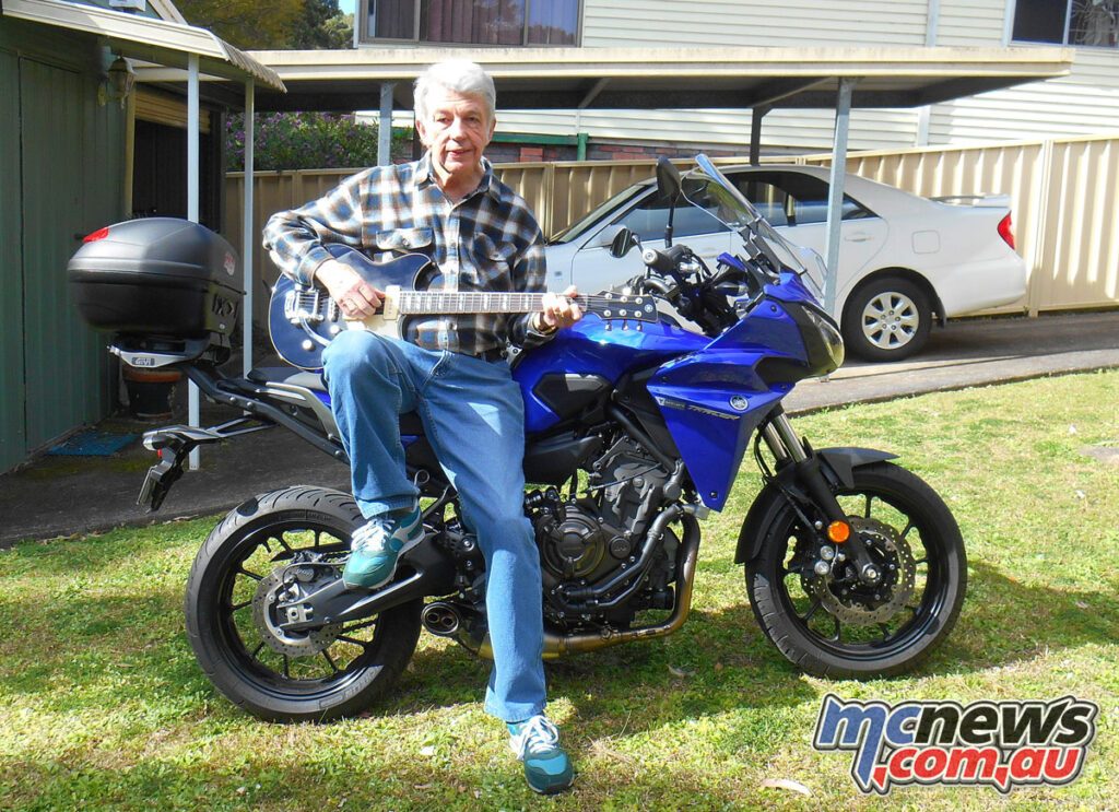 Elwyn Jordan in 2021 with his Yamaha Tracer