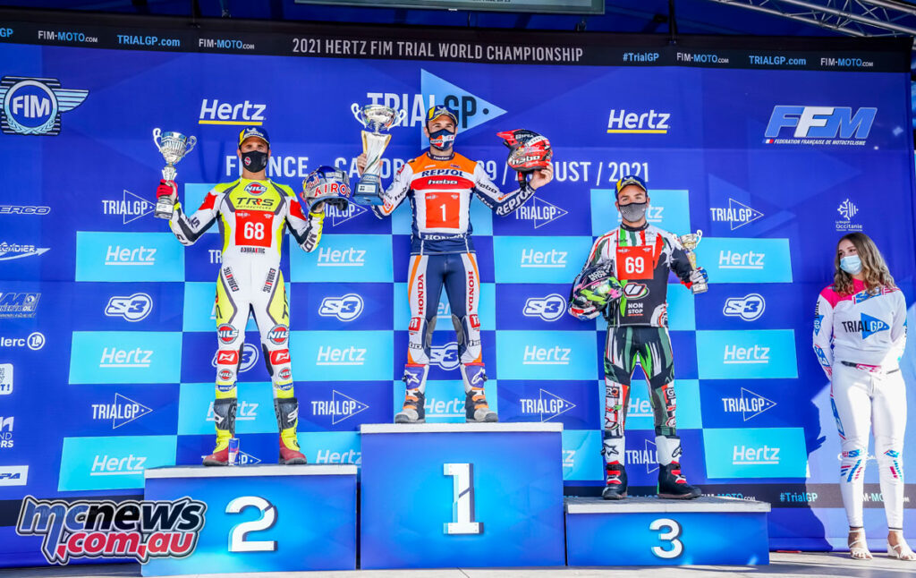 Toni Bou topped the podium in France