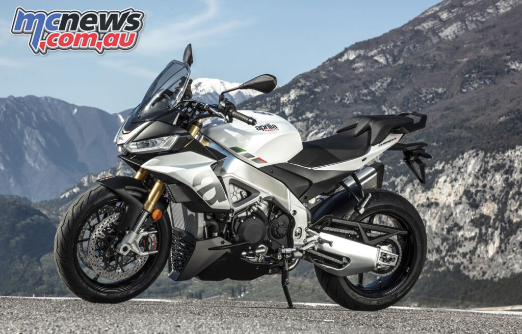 The standard Tuono V4s Sachs setup is stiffer than the Ohlins