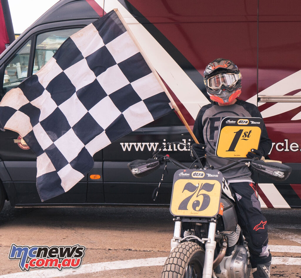 Australian Paul Young brought home the victory after his teammate was injured