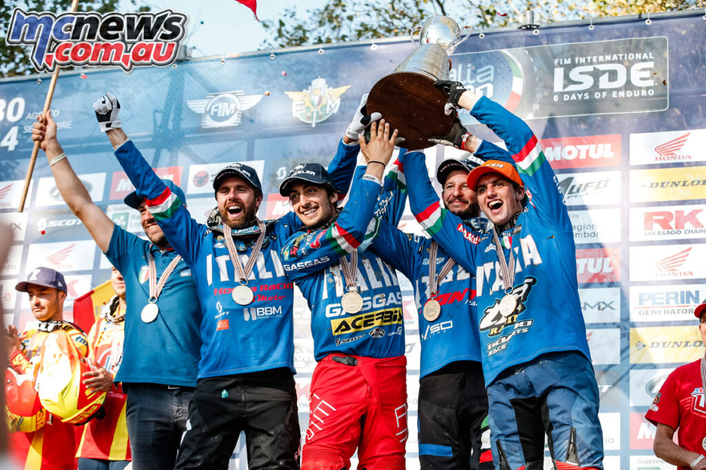 Italy has won the 2021 ISDE World Trophy