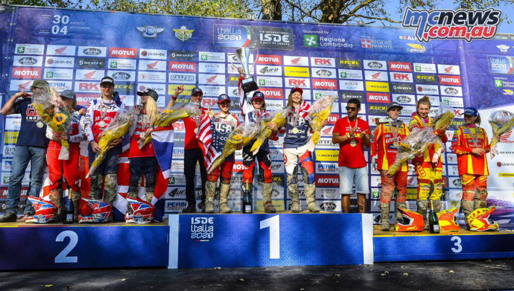Team USA won the 2021 ISDE Women's World Trophy class