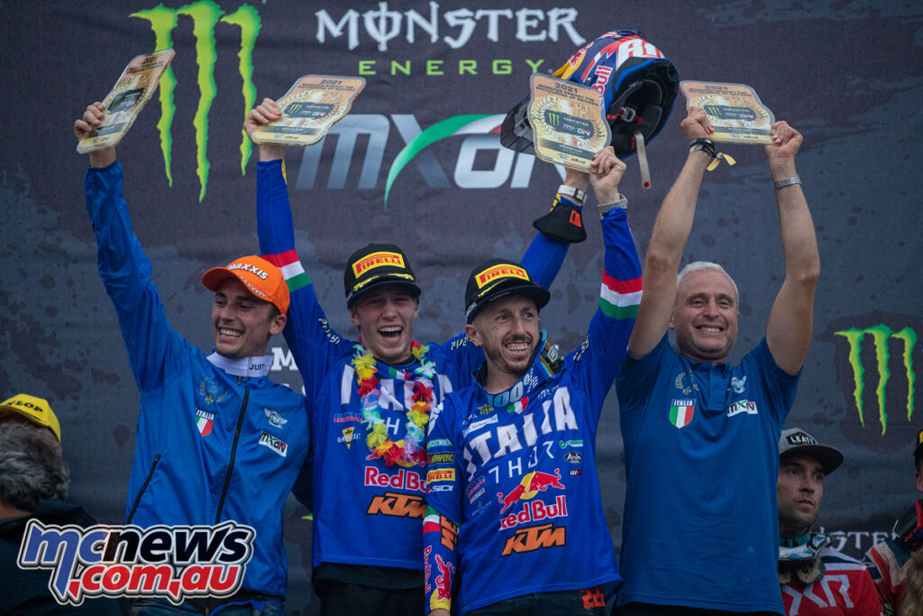 Team Italy wins the 2021 Motocross of Nations held in Mantova