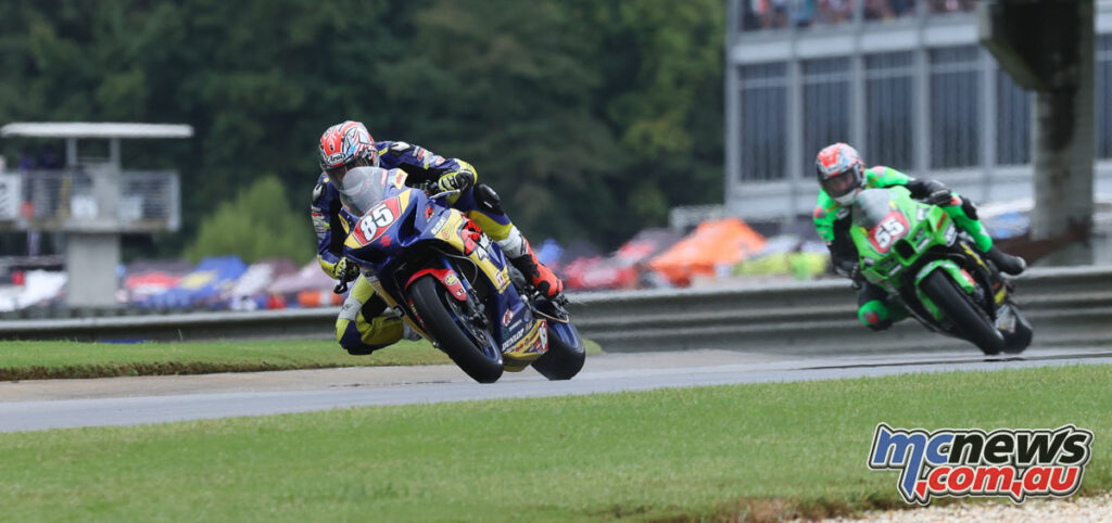 Jake Lewis also competed in the Honos Superbike class for the Superbike Cup Crown