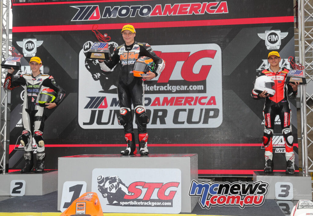 Scott topped the Sunday Junior podium from Gloddy and Kohlstaedt