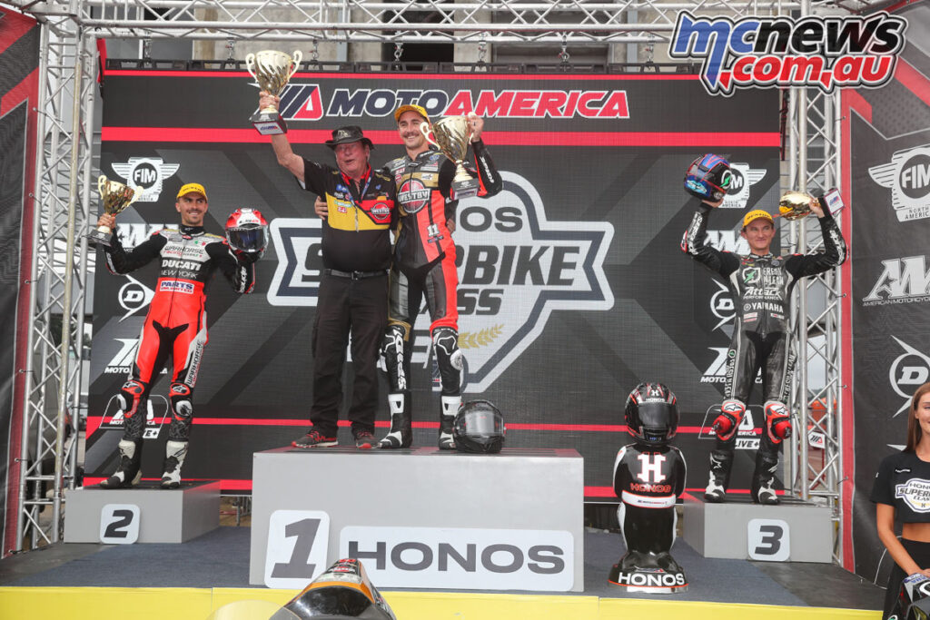 Scholtz won Race 2 from Baz and Gagne