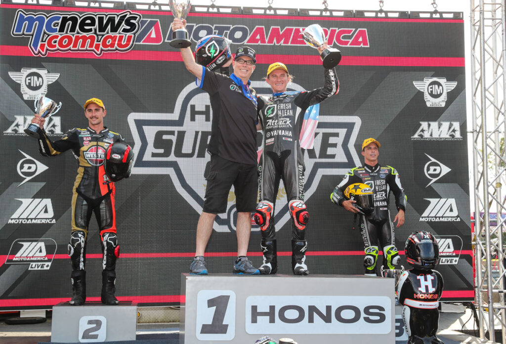 Jake Gagne topped the Saturday podium in New Jersey