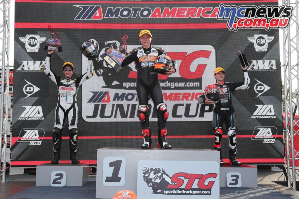 Tyler Scott topped Saturday's podium ahead of