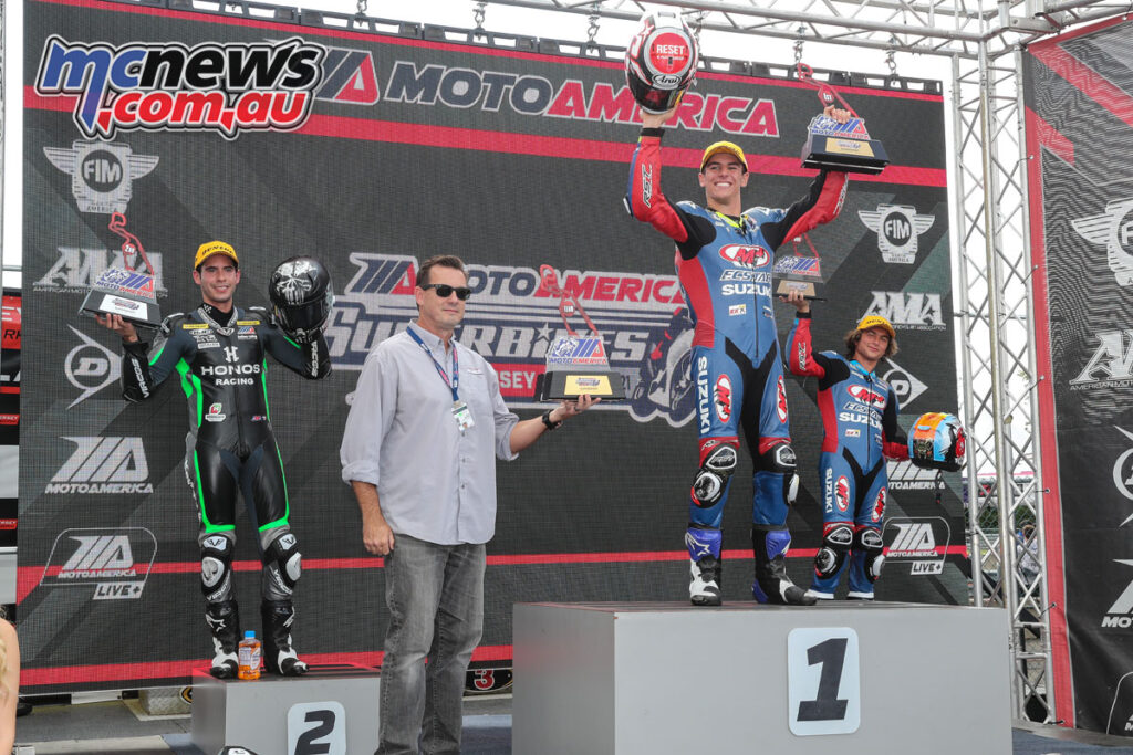 Sean Dylan Kelly topping the Saturday podium