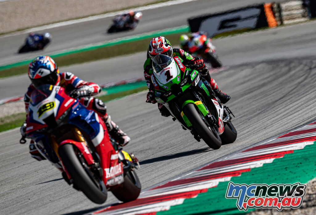 Jonathan Rea had to settle for sixth in Race 2