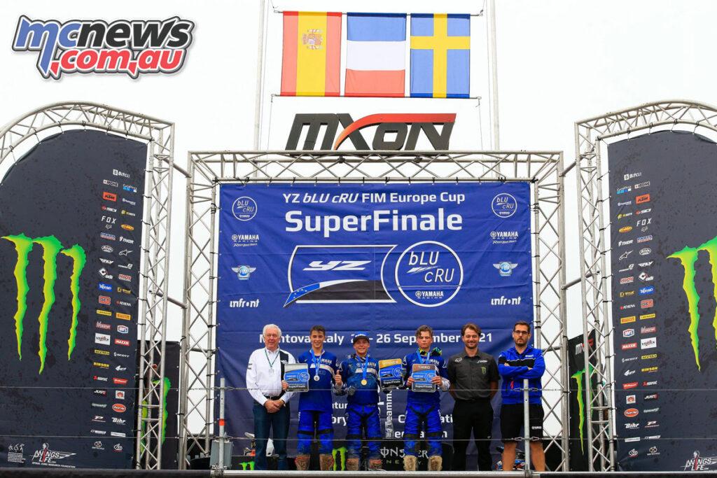 The YZ125 podium