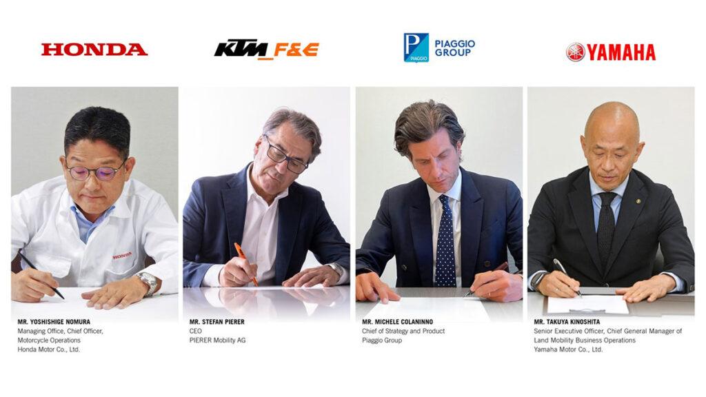 Honda, KTM (Pierer Group), Piaggio and Yamaha form the SMBC