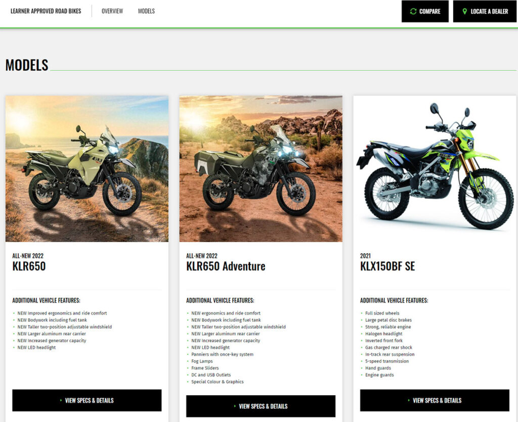 Everything you need to know is on hand, including local ride-away pricing