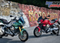 The new Moto Guzzi V100 Mandello looks like it will arrive in two versions, one with Ohlins electronic suspension