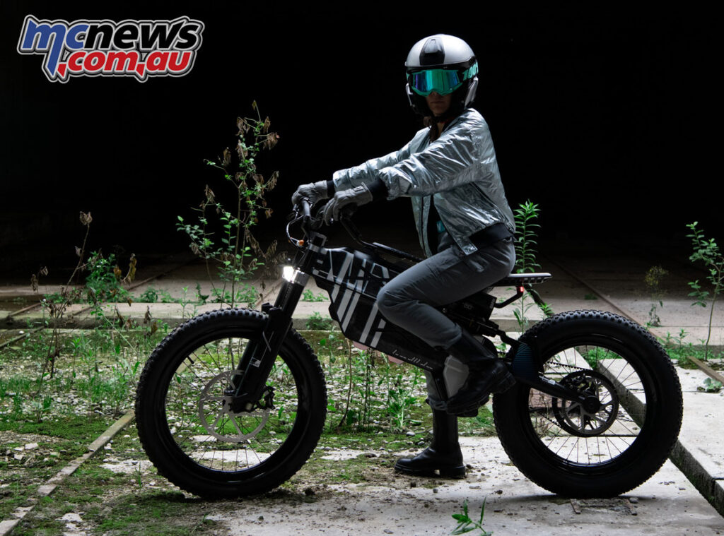 Large chunky tyres on the BMW Motorrad Vision AMBY will be suitable for most conditions