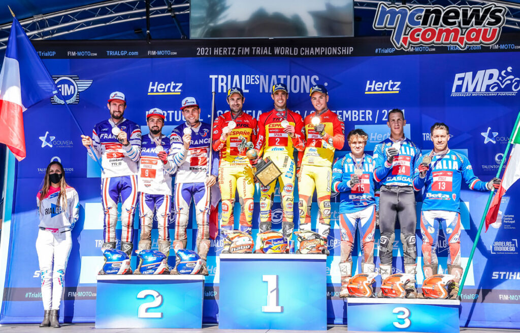 Spain's Bou, Raga and Busto won from France's Bincaz, Ferrer, Colari, with Italy's Grattarola, Tournour and Gandola third