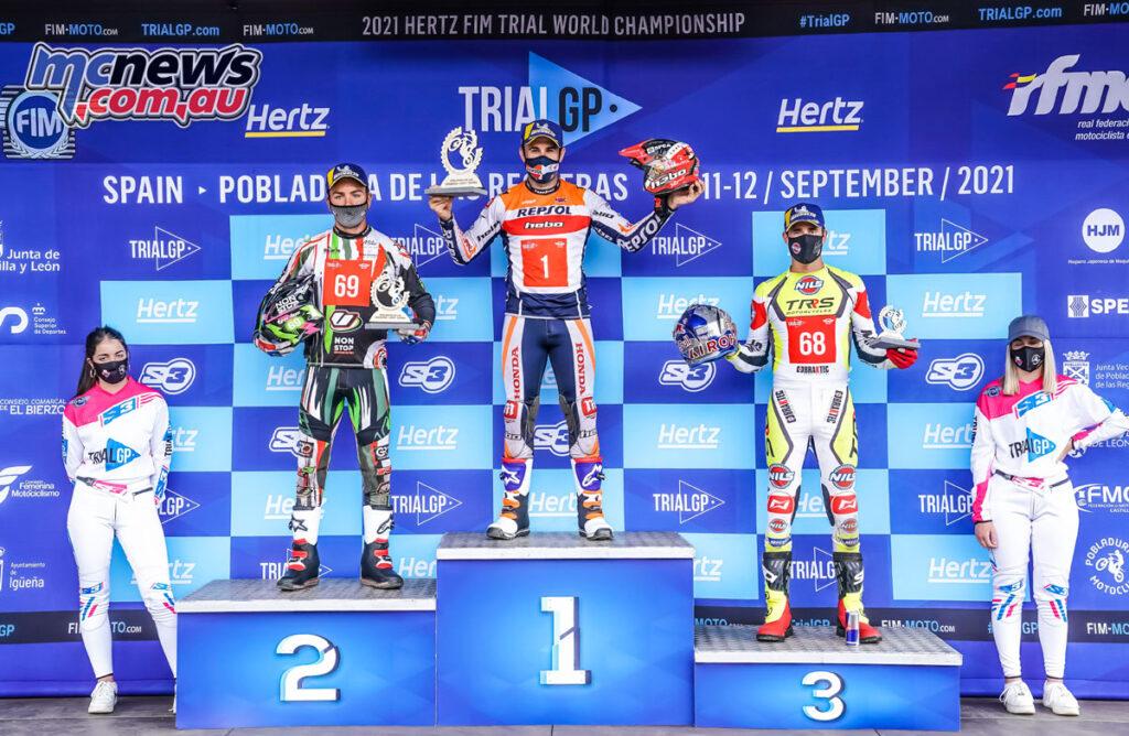 Toni Bou topped the Spanish TrialGP podium from