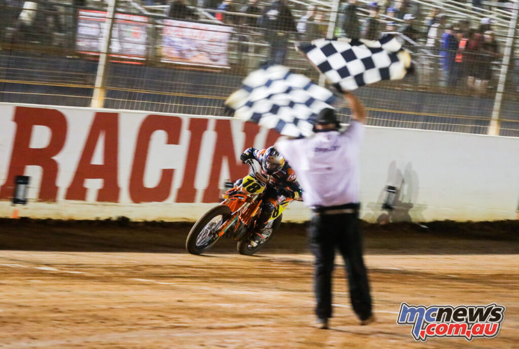 Max Whale took the win, but Daniels wasn't far enough back to also win the title