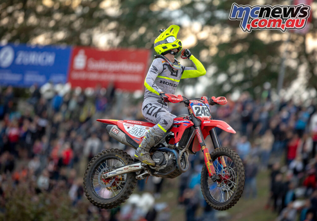 Tim Gajser victorious at the 2021 MXGP of Germany