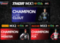 Luke Clout, Kyle Webster and Blake Fox crowned 2021 ProMX Champions after final rounds cancelled
