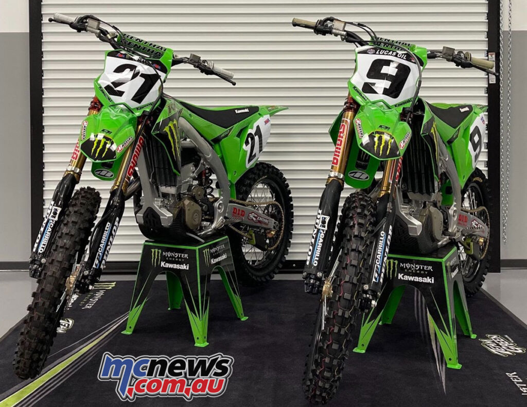Monster Energy Kawasaki to run Anderson and Cianciarulo in 2022