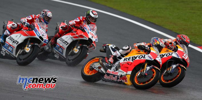 Marquez and Pedrosa leading Lorenzo and Dovizioso - Image By AJRN