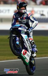 Jorge Martin celebrates victory at Valencia - Image by AJRN