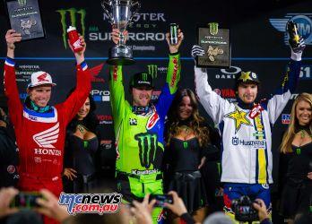 450SX Class -Anaheim 2 2018 – Results Eli Tomac, Cortez, Colo., Kawasaki (5-1-2) Cole Seely, Newbury Park, Calif., Honda (1-2-7) Jason Anderson, Rio Rancho, N.M., Husqvarna (7-3-1)