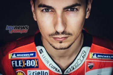 Jorge Lorenzo (#99, Ducati Team rider)