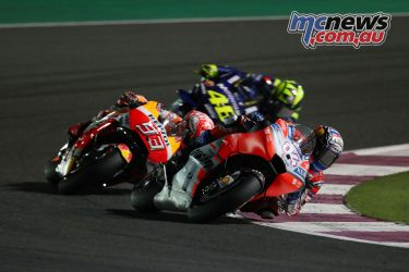 Leading pack at Losail (2018) - Image by AJRN