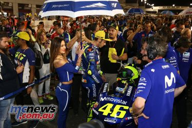Valentino Rossi on the grid at the Qatar season opener - Image by AJRN