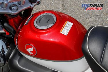 The glossy 5.6L fuel tank