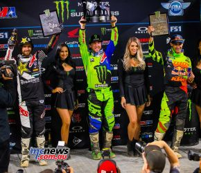 AMA Supercross 2018 - Round 14 - Minneapolis 450SX Race Results Eli Tomac (KAW) 1-4-3 Jason Anderson (HUS) 2-6-1 Marvin Musquin (KTM) 7-1-2