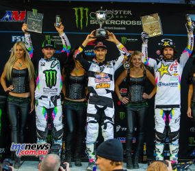 AMA SX 2018 - Round 15 450SX Podium - Musquin took the top spot from Tomac and Anderson