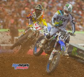 Jason Anderson had to fight his way back through the field