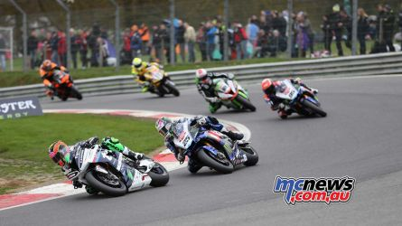 Michael Laverty ahead of Josh Brookes