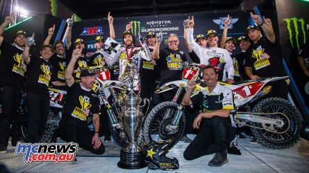 Husqvarna took the 450SX and 250SX East championships