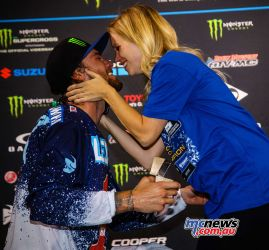 Plessinger proposed to his girlfriend on the podium