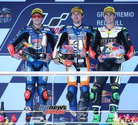 Moto3 Race Results Philipp Oettl (GER) KTM 39'39.799 Marco Bezzecchi (ITA) KTM +0.059 Marcos Ramirez (SPA) KTM +3.733