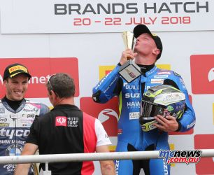 BSB Brands Hatch Billy McConnell with the trophy ImageDYeomans