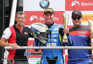 BSB Brands Hatch Billy Mconnell Troy Corser on the Podium ImageDYeomans