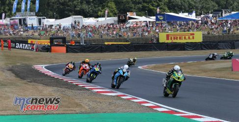 BSB Brands Hatch Bryan Staring leading the group race ImageDYeomans
