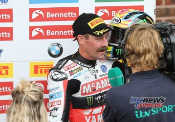 BSB Brands Hatch Josh Brookes Interview for TV ImageDYeomans