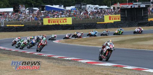 BSB Brands Hatch Josh Brookes leads the opening pack ImageDYeomans